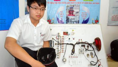 Photo of Mũ bảo hiểm chống trộm đạt giải cao cuộc thi KHKT học sinh THP