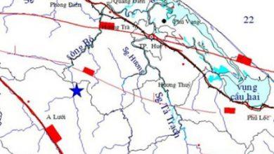Photo of Động đất 4.7 độ richte tại Thừa Thiên – Huế